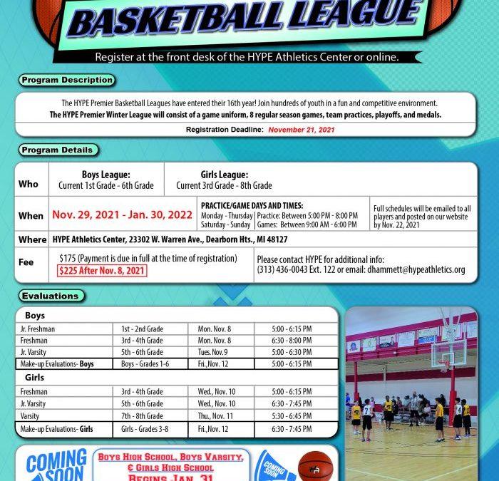 Premier Winter 2021 Basketball League